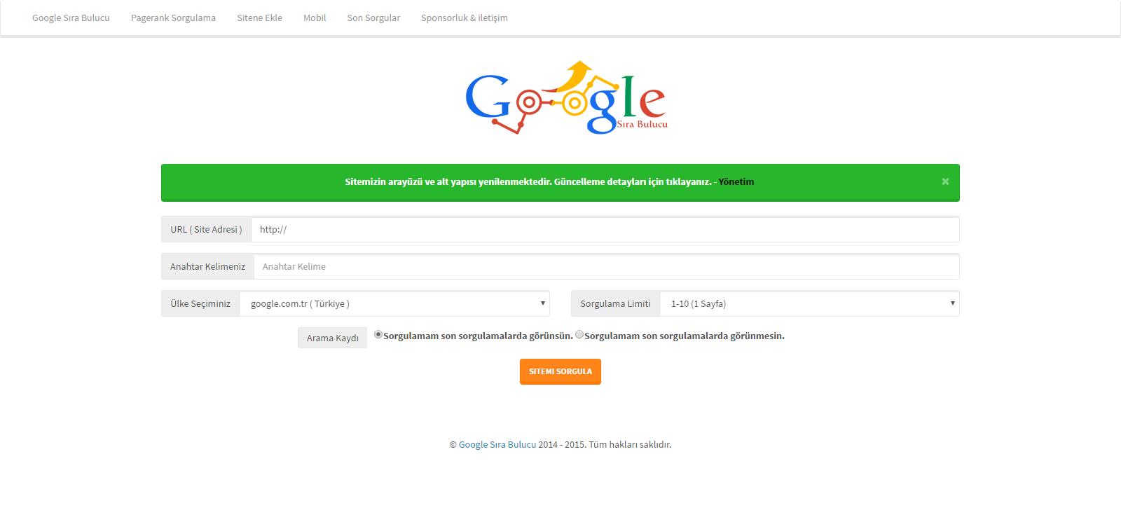 php-google-sira-bulma-scripti